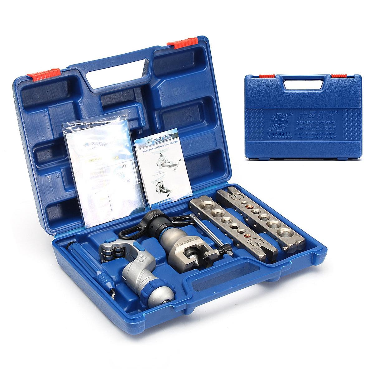 6-19mm di Alluminio di Rame + Metallo Ratchet Flaring Flare Tool Kit di Refrigerazione Eccentrico Cono + Taglierina di Tubo in Acciaio Inox doppio Anello Bar