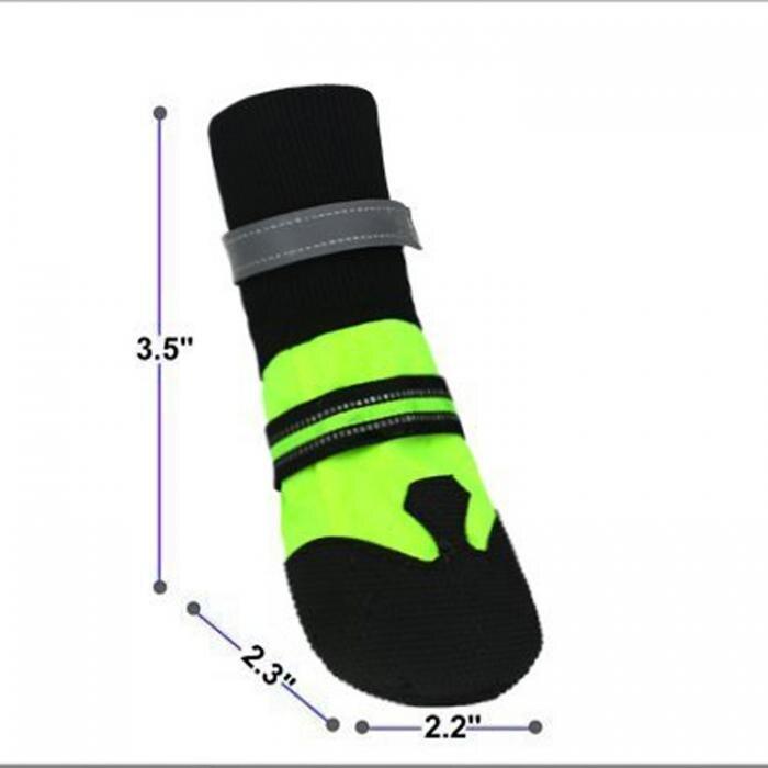 Chaussures Hiver Patte Anti Étanche Chien Slip 4 Pcsensemble qfwP1tw