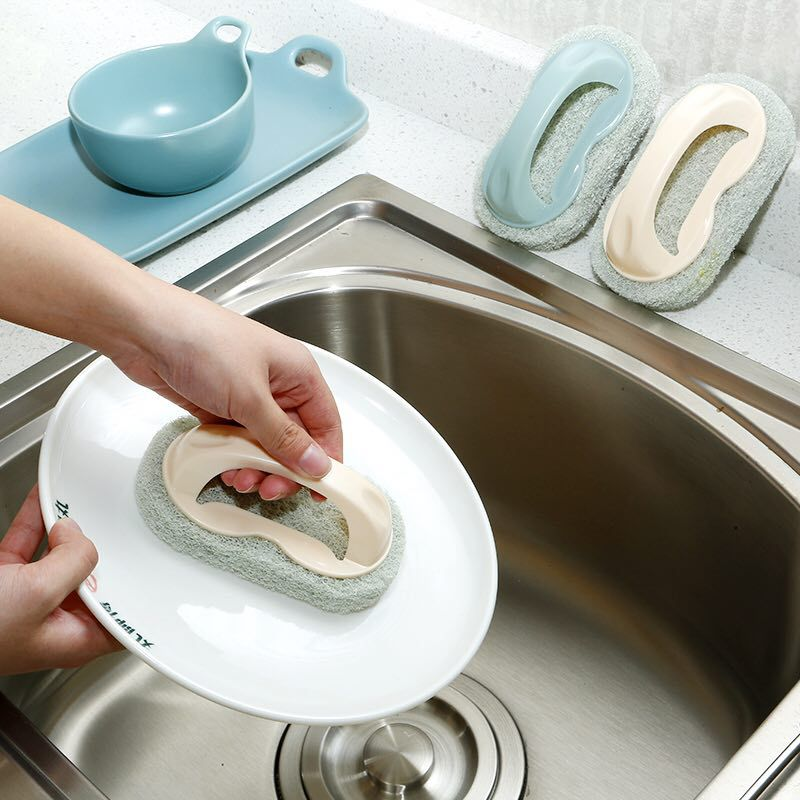 New Kitchen Cleaning Pot Brush Powerfully Decontaminate and Wipe Sponge Tile, Wash Bath, Wash Pot and Clean Brush