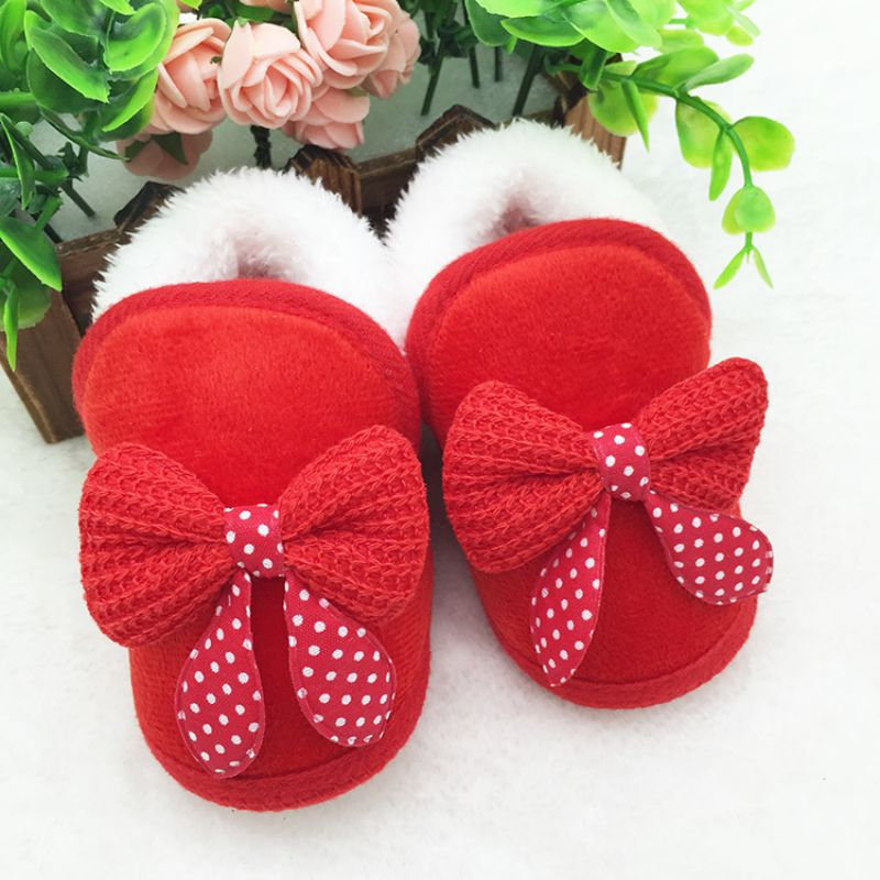 Newborn Baby Girls Shoes Toddler Winter Warm First Walker Winter Boots Soft Sole Prewalker Shoe Infant Baby Girls Boy Shoes