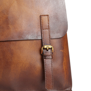 Image 5 - Johnature 2020 New Genuine Leather Backpack Women Bag Cow Leather Vintage Solid Color Backpacks Women Fashion Travel Bag