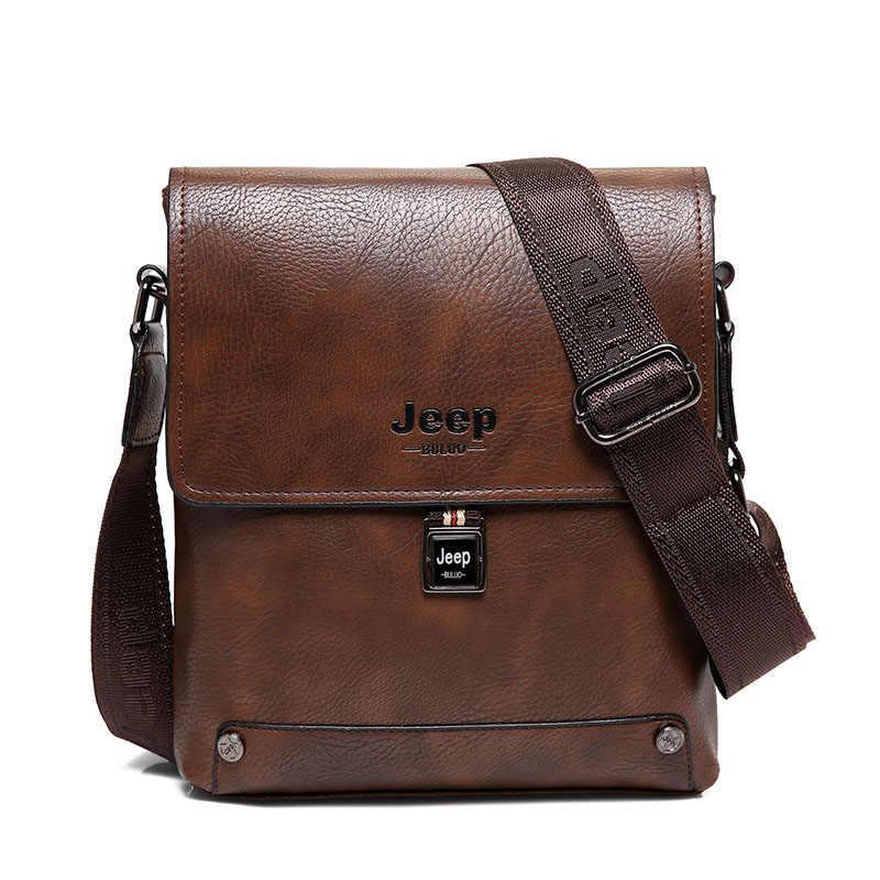 3dcd051b97c6 Новая мужская кожаная сумка через плечо, Повседневная Деловая винтажная мужская  сумка, сумка через плечо