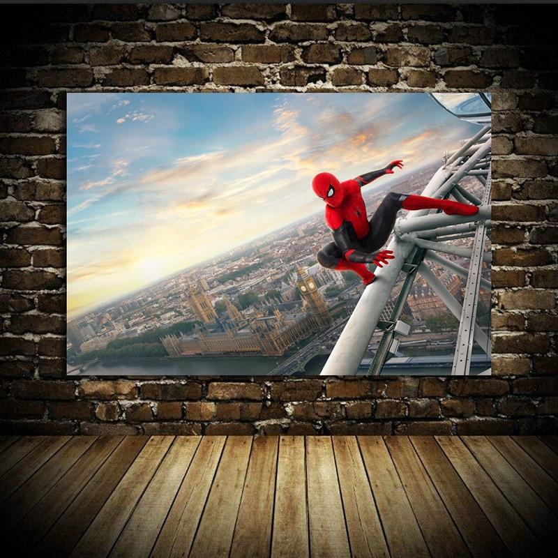 Spider-Man: Far From Home (2019) Avengers: Endgame iron Man Movie Poster Home Decor Wall Decor Wall Art Canvas Print A9