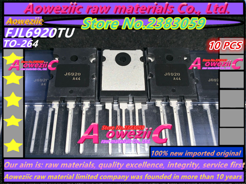 Aoweziic   100% New Imported Original FJL6920TU  FJL6920  J6920   TO-264  High Power Supply Triode N 1500V 20A