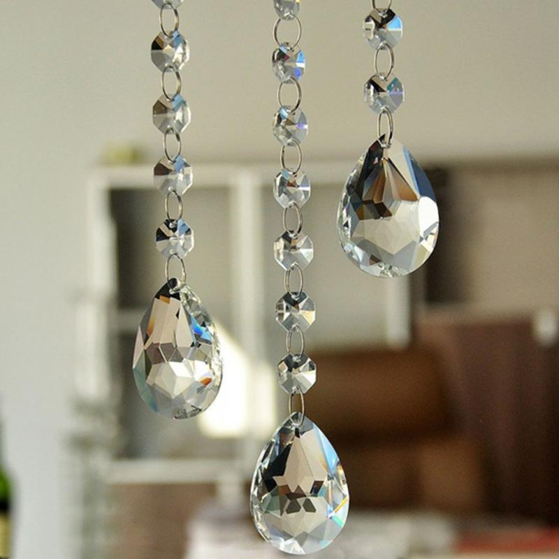 50mm Clear Crystal Chandelier Prisms Parts Drops Ceiling