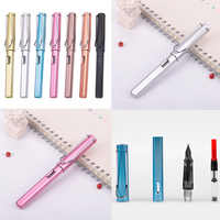 High Quality Colorful 0.5mm 0.38mm Metal Texture Fountain Pen Replaceable Ink Pen Business Student Stationery