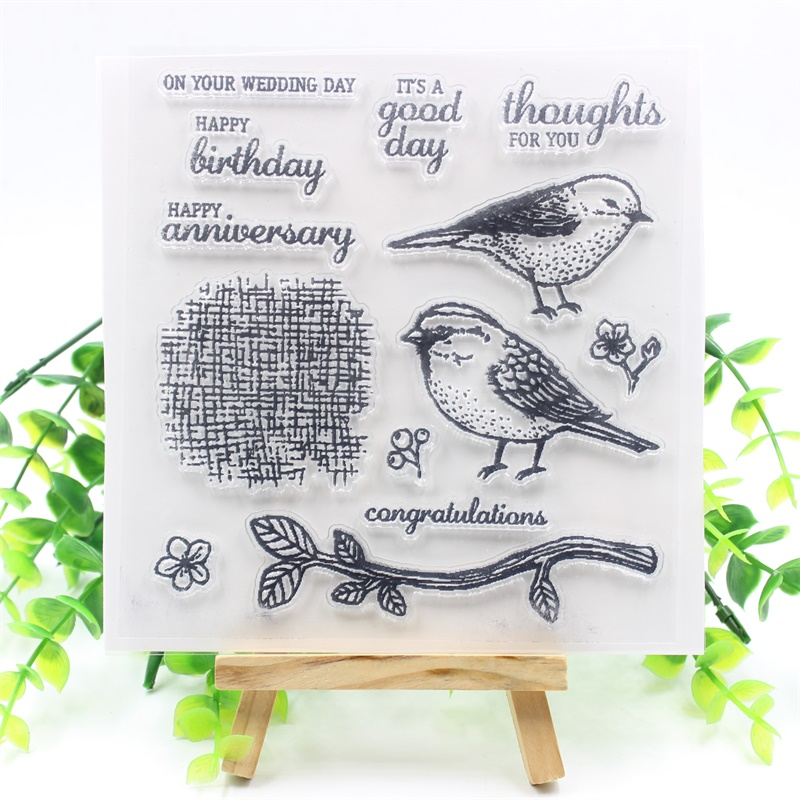 ZLDECOR Bird Transparent Clear Silicone Stamps for DIY Scrapbooking/Card Making/Kids Fun Decoration Supplies from 2012 ea1420 1ms new 0626 coastal bird stamps
