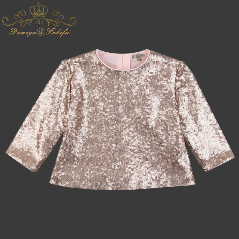 Fashion Casual Long Sleeve Shining Sequined Flower T Shirt Girl Top Tees Spring Autumn 2018 Children T-Shirt Baby Tshirt Clothes plus size skew collar sequined trim overlay t shirt