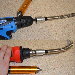 Image 4 - Herramienta de amoladora rotativa de 6mm, eje Flexible que se adapta a + 0 6,5mm, pieza de mano para Dremel, taladro eléctrico, accesorios de herramienta rotativa