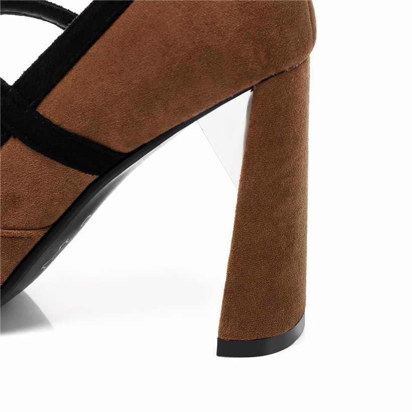 2019 г. Большие размеры 46, офисные женские туфли-лодочки на Высоком толстом каблуке 9 см, из флока, с острым носком, вечерние, свадебные, с металлическим кольцом, женские туфли mary janes