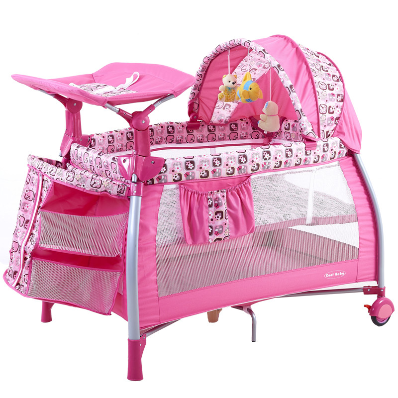 2018 Top Fashion Sale Cribs For Twins Babies Coolbaby Multifunctional Baby Bed Game Fashion Crib Folding Bb 4 Colors In Stock 2016 hot sale factory price hotel extra folding bed 12cm sponge rollaway beds for guest room roll away folding extra bed