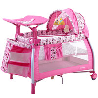 2018 Top Fashion Sale Cribs For Twins Babies Coolbaby Multifunctional Baby Bed Game Fashion Crib Folding Bb 4 Colors In Stock