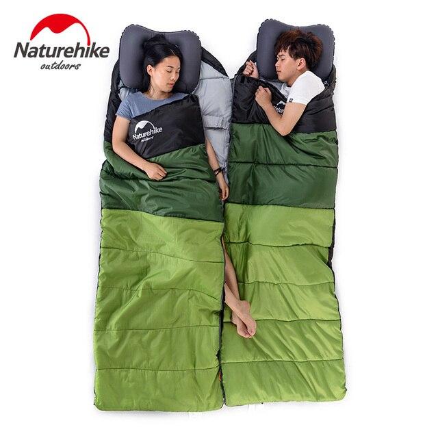 newest 1b4a8 68d73 Naturehike Ultraleicht schlafsack Outdoor Camping Reise Wandern Erwachsene  Schlafsack Können Gespleißt Werden Tourist Tquipment NH15S009 D