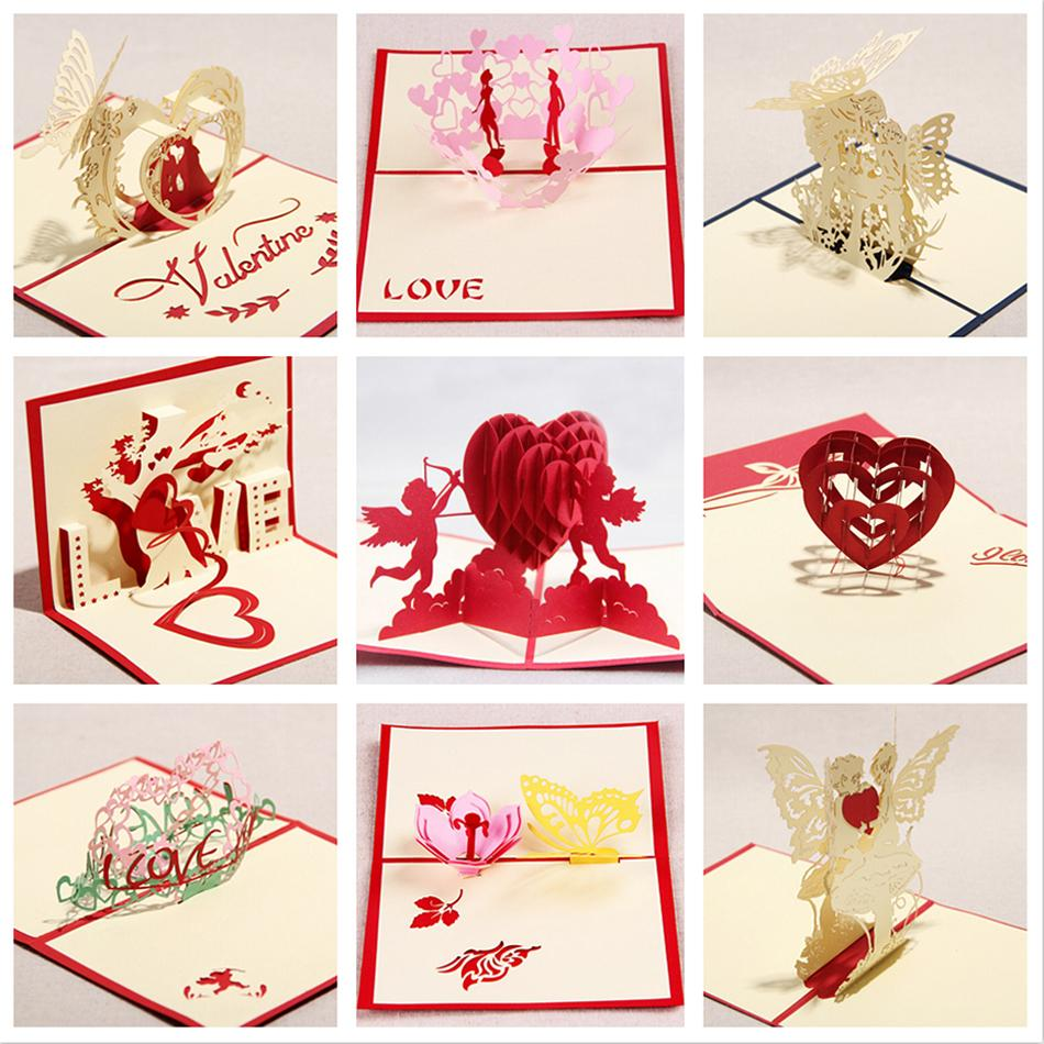 Valentine greeting cards handmade love theme kirigami 3d pop up card valentine greeting cards handmade love theme kirigami 3d pop up card 9pcs set combination sale free shipping on aliexpress alibaba group m4hsunfo