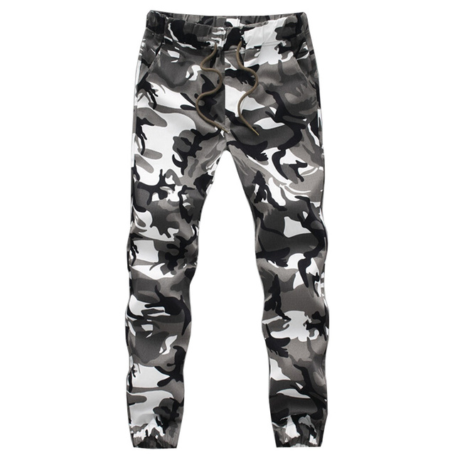 Brand New Spring Autumn Army Fashion Hanging Crotch Jogger Pants Patchwork Harem Pants Men Crotch Big Camouflage Pants Trousers