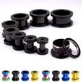 2 Pcs aço Inoxidável Ear Plugs Túnel GaugesFlesh Body Piercing Orelha Alargador Expansor alongamento 3mm-25mm