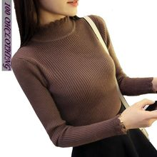 OHCLOTHING 2017 New Spring Autumn Fashion Women sweater high elastic sexy slim Warm tight Bottoming elegant Knitted Pullovers