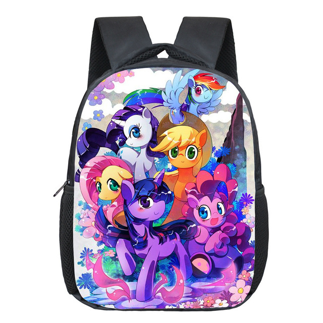 acf9deb363ce Anime My Pony Backpack For Girls Kindergarten School Bags Cartoon Rainbow Pony  Backpack Kids Schoolbags Children Bags