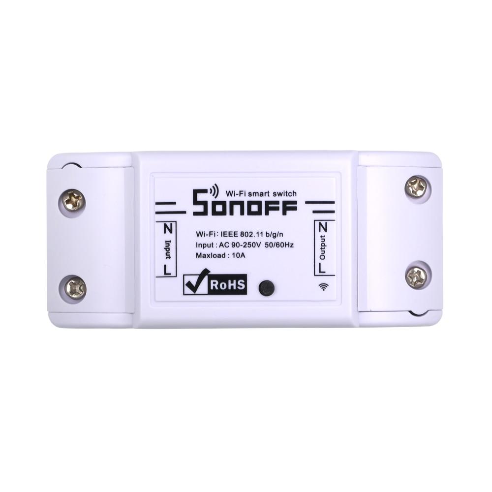 Itead Sonoff interruptor Wifi básico DIY remoto inalámbrico Domotica Light Smart Home Automation controlador de módulo de relé funciona con Alexa