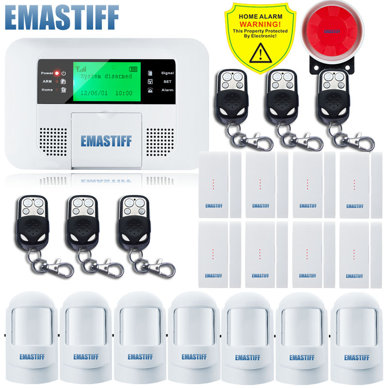 Free Shipping!High Quality Sensor New Wireless Wired Alarm System Home GSM PSTN Security Alarm systems LCD Keyboard Alarm Kit dual network russian spanish french wireless gsm pstn alarm system home security alarm systems with lcd keyboard without battery