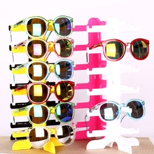 becfc1f51d9 Portable 6 pairs Acrylic Sunglasses Showing Rack Holder Frame 6 Layer Clear  Glasses Display Stand(