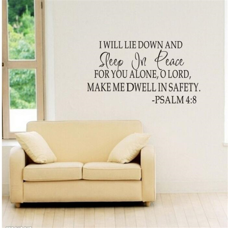 IDFIAF DIY wall sticker Sleep In Peace Bible Verse Decor Vinyl Wall ...