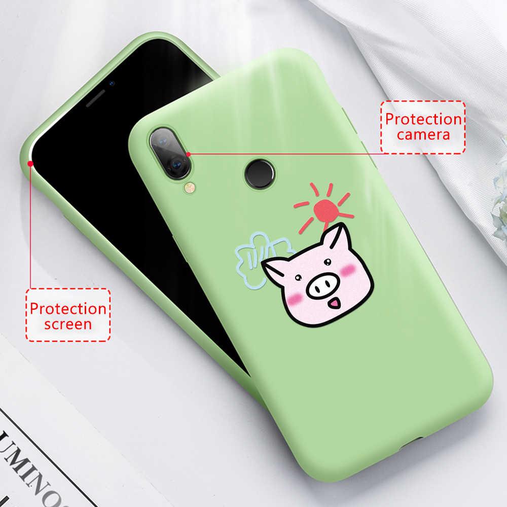Cute Green Cactus Pot Tanaman Soft Case untuk Xiao Mi Merah Mi Note 7 6 5 PRO 6 7 7A k20 Pro untuk Xiao Mi Mi 9SE Mi 8 Lite Mi 9 T PRO Mi 9 T