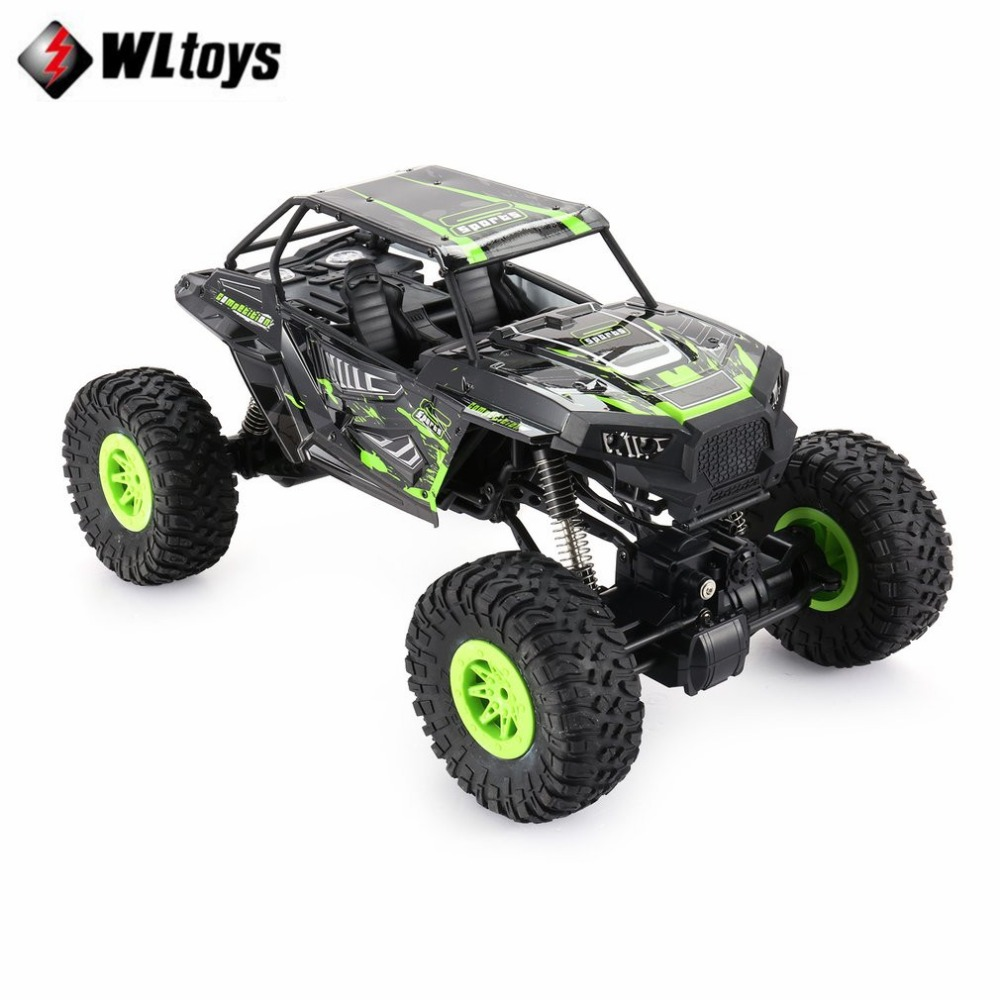 Wltoys 10428-E 1/10 2.4G 4WD Electric Rock Climbing Crawler RC car Desert Truck Off-Road Buggy Vehicle with LED Light RTR fi hongnor ofna x3e rtr 1 8 scale rc dune buggy cars electric off road w tenshock motor free shipping