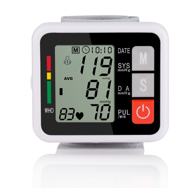 Wrist blood pressure monitor heart rate monitor automatic sphygmomanometer medical equipment Diagnostic tool tonometer