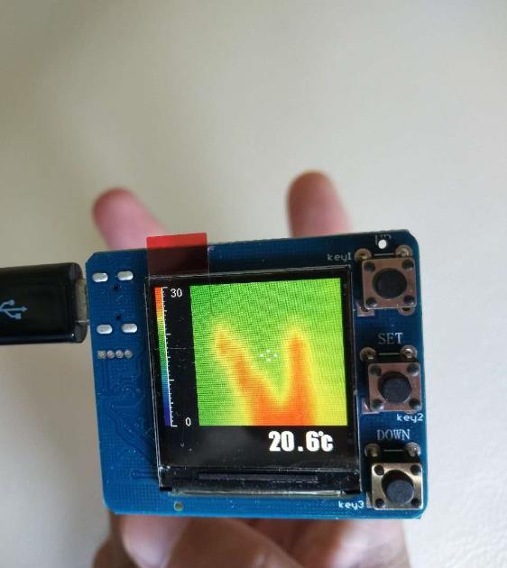 Imageur thermique IR 8x8 infrarouge Module de mesure de température capteur infrarouge développer AMG8833 MLX90640 kit de bricolage thermomètre