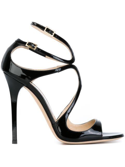 ФОТО Black patent leather cross-strap sexy sandal open toe cutouts gladiator shoes 2017 high heel sandal for woman