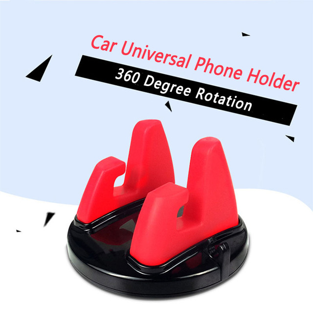Universal Car Ornament Phone Holder 360 Degree Rotation PC + Silicone Dashboard Decoration For GPS Holder Cell Phone 75mmx45mm