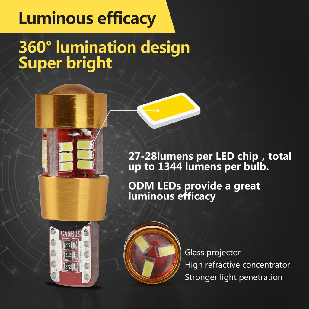Image 3 - 2 Pieces Car T10 Wedge 4014 27 SMD LED License Plate Map Dome Lights Gold LED Light Bulbs For Cars Width Reading Panel Lights-in Signal Lamp from Automobiles & Motorcycles