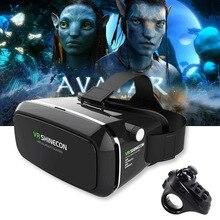 Оригинальный VR shinecon про очки виртуальной реальности мобильный VR 3D очки гарнитура коробка картонная шлем для 4-6 'смартфон + управления