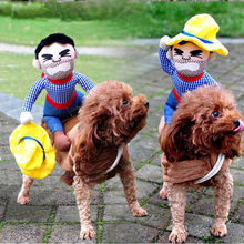 Funny Pet Horse Riding Dog Costume Rider Dressing Up Party Halloween Clothes For Dogs