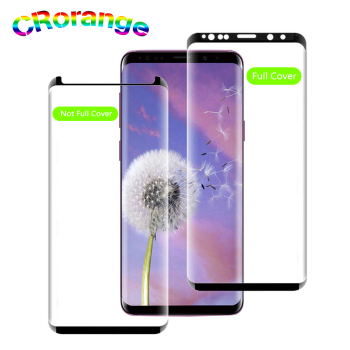 Full Cover Screen Protector for Samsung S8 S9 Plus S7 Edge Case friendly Glass For Galaxy S10 Plus Note 9 note 8 Protector Film image