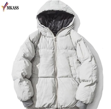 2017 Jackket Men Winter Jacket Coats Big Size S-4XL New Arrival Casual Wide Loose Cotton With Hooded Parkas Casaco Masculino