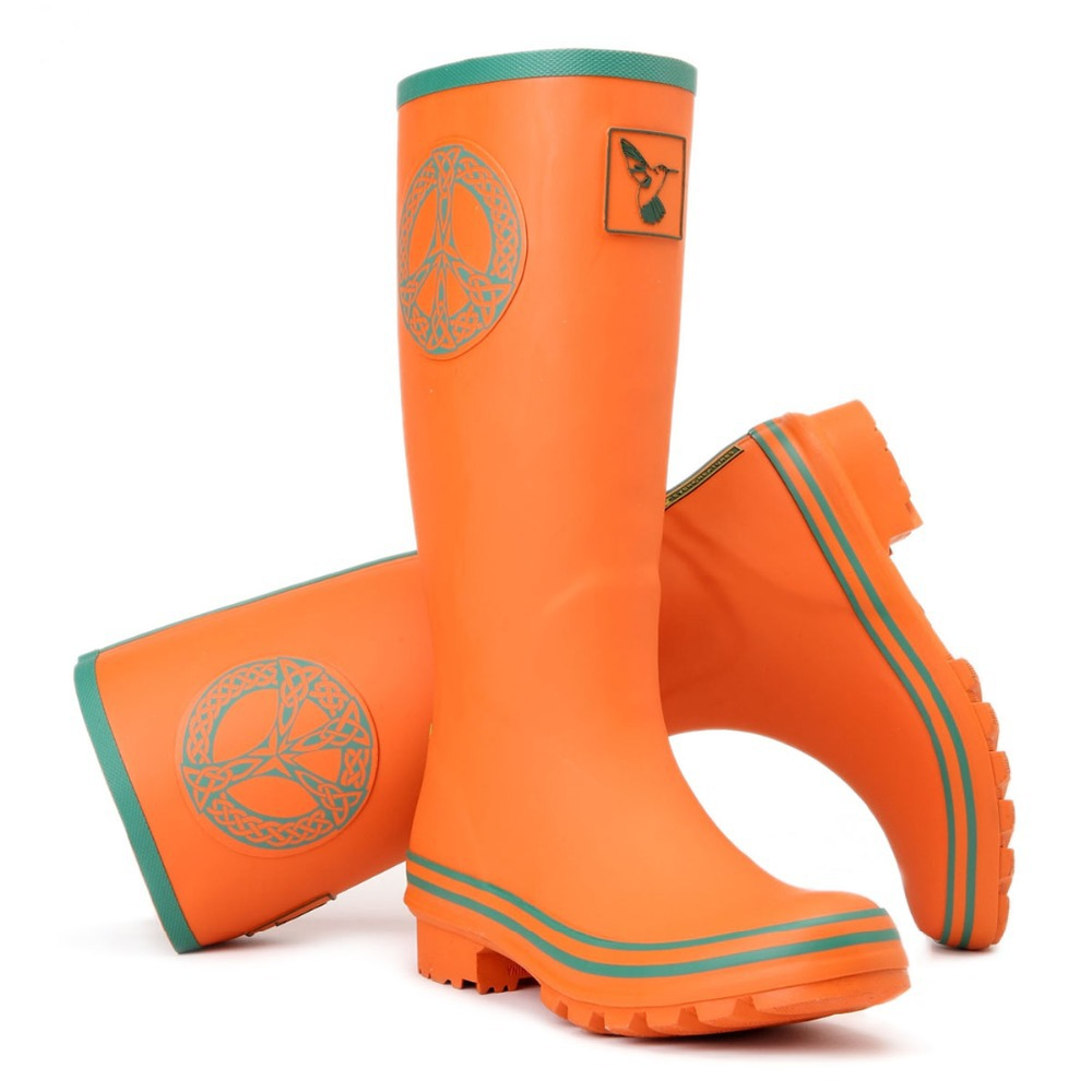 Evercreatures UK Brand boots high quality Orange women's rubber ...