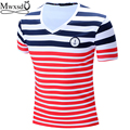 high quality 2016 new casual mens stripe menu  polo shirts short sleeve cotton polo shirt men slim fit camisas polo shirt