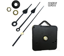 10pcs/lot Hot sale Pure black Quartz Clock Movement Mechanism with Hook DIY Repair Parts Heart shape Hands Complete parts