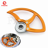 Orange Motorcycle Front Brake Disc Rotor Guard Protector for Husqvarna TE FE TC TX FX 125 250 300 350 450 480 501 For KTM EXC SX