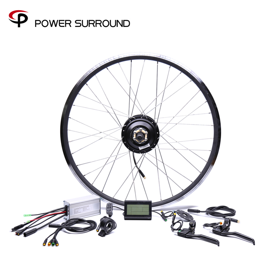 2018 Waterpro Electric Bike Kit 48v500w Shengyi Rear Cassette Conversion Brushless Hub Motors 20 26 28 Motor Wheel