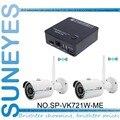 SunEyes SP-VK721W-ME 2CH Mini Kit Câmera de CFTV IP com Dois Pcs sem fio Wi-fi Mini IP IR Ao Ar Livre Câmera de 720 P HD com Frete P2P