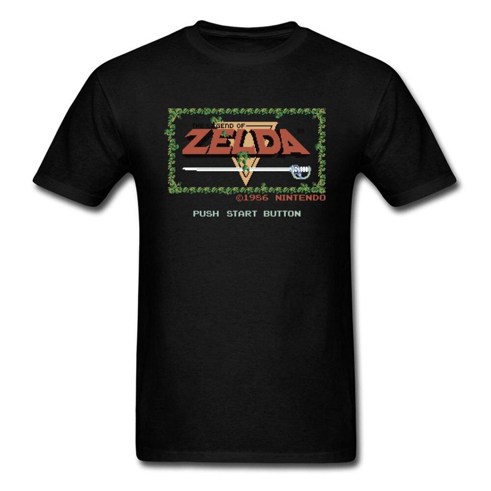 Legend of Zelda T-shirt Vintage Black Tshirt Gamer T Shirt Zelda Tops Game Tees Youth GG Clothes Cotton Fabric Letter Printed