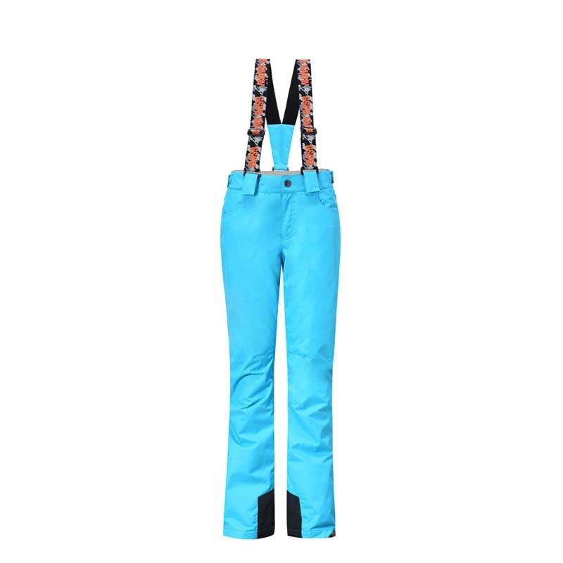 GSOU SNOW pantalon à bretelles femme couleur Pure simple Double planche chaud imperméable coupe-vent pantalon de ski pour dame taille XS-L