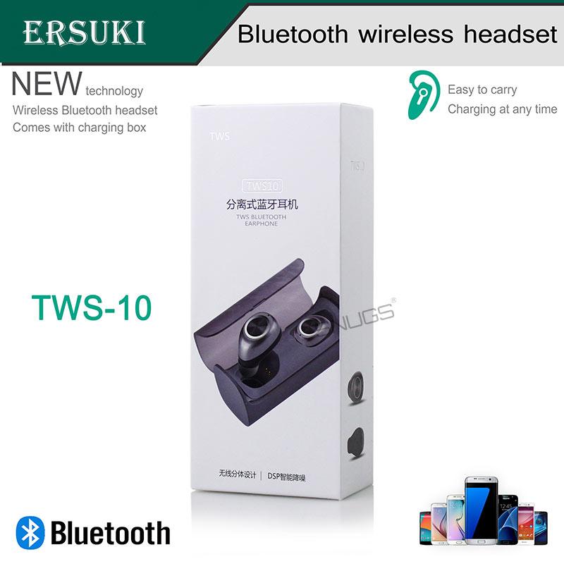 Ersuki auriculares bluetooth dobles TWS10 True Wireless Mini en oreja - Audio y video portátil - foto 2
