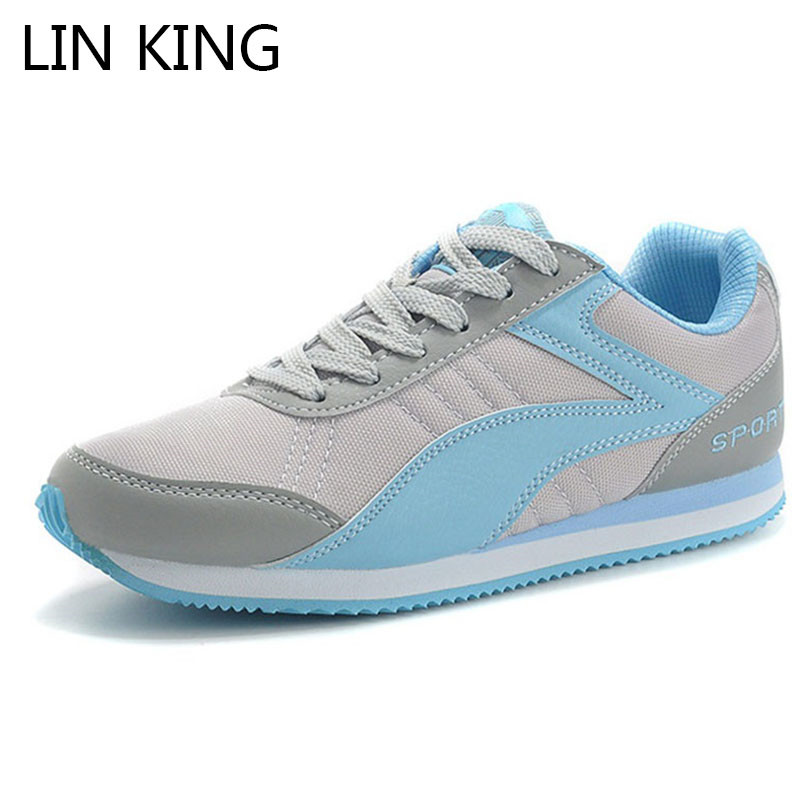 LIN KING Comfortable Women Casual Shoes Lace Up Ankle Flats Shoes Fashion Low Top Girls Sneakers For Spring Autumn Zapatos Mujer forudesigns casual women flats shoes woman fashion graffiti design autumn lace up flat shoe for teenage girls zapatos mujer 2017