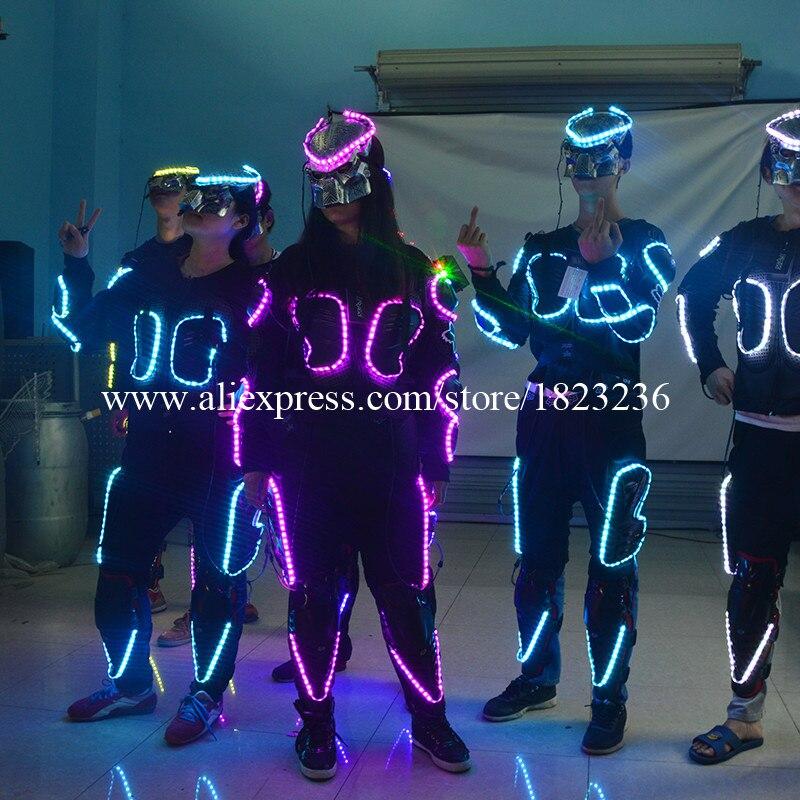 Wecool meleg eladó gumi izzó villogó 7 szín LED jelmezek páncél - Ünnepi és party kellékek