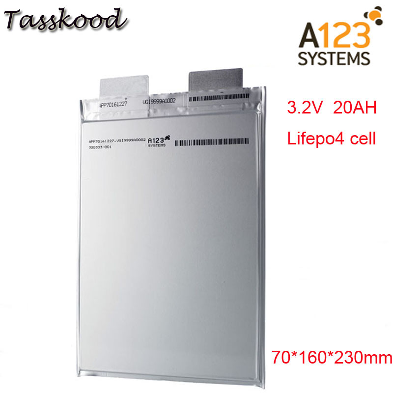 No taxes Li polymer A123 lifepo4 battery 3.2v 20000mah a123 20ah prismatic Lifepo4 battery cell use for E-bike A123 3.2VNo taxes Li polymer A123 lifepo4 battery 3.2v 20000mah a123 20ah prismatic Lifepo4 battery cell use for E-bike A123 3.2V
