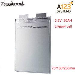 No taxes Li polymer A123 lifepo4 battery 3.2v 20000mah a123 20ah prismatic Lifepo4 battery cell use for E-bike A123 3.2V